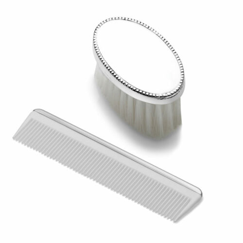 Boys Beaded Brush & Comb Set by Empire, Factory Brand New, #2195, Sterling