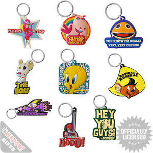 PVC-Keyrings-Choice-Of-Designs-Cool-Funky-Gifts-For-Him-Her-Retro-TV-Films