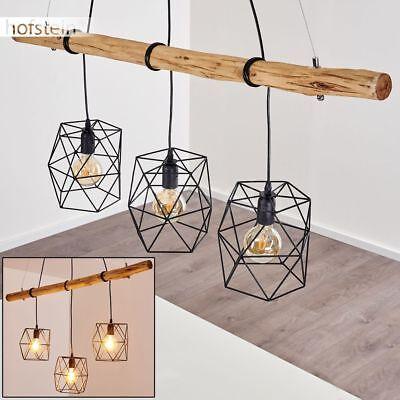 Holz Hänge Leuchte Schlaf Wohn Ess Zimmer Raum Beleuchtung modern Pendel Lampen