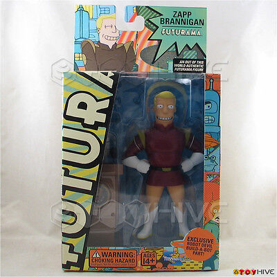 Futurama Zapp Brannigan Toynami Series 2 action figure w/ devil build-a-bot part