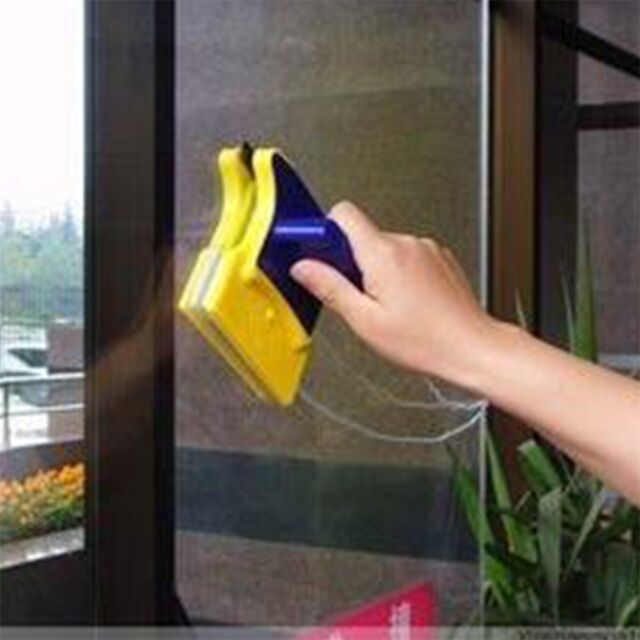 Magnetic Window Double Side Glass Wiper Cleaner Cleaning Brush Pad Scraper YS