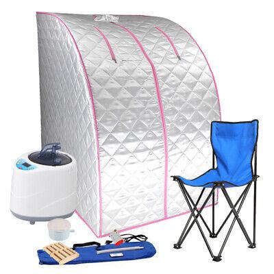 2L Electrical Sauna Steam Kit Home Spa Portable Tent Full Body Massage+ Remote