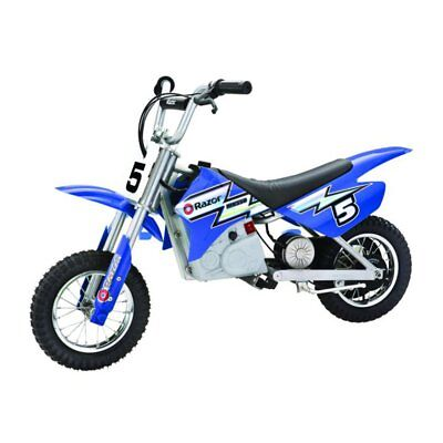 Razor MX350 Dirt Rocket 24V Electric Toy Motocross Motorcycle Dirt Bike, Blue