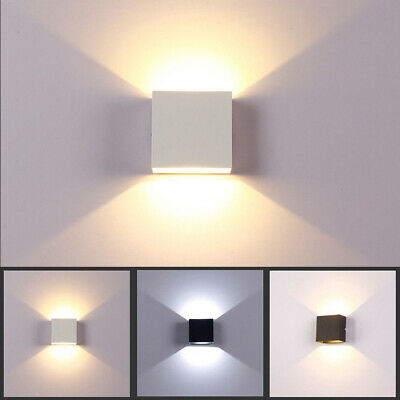 12W Modern COB LED Wall Light Up Down Cube Indoor Outdoor Sconce Lighting Lamp](Light Up Cubes)