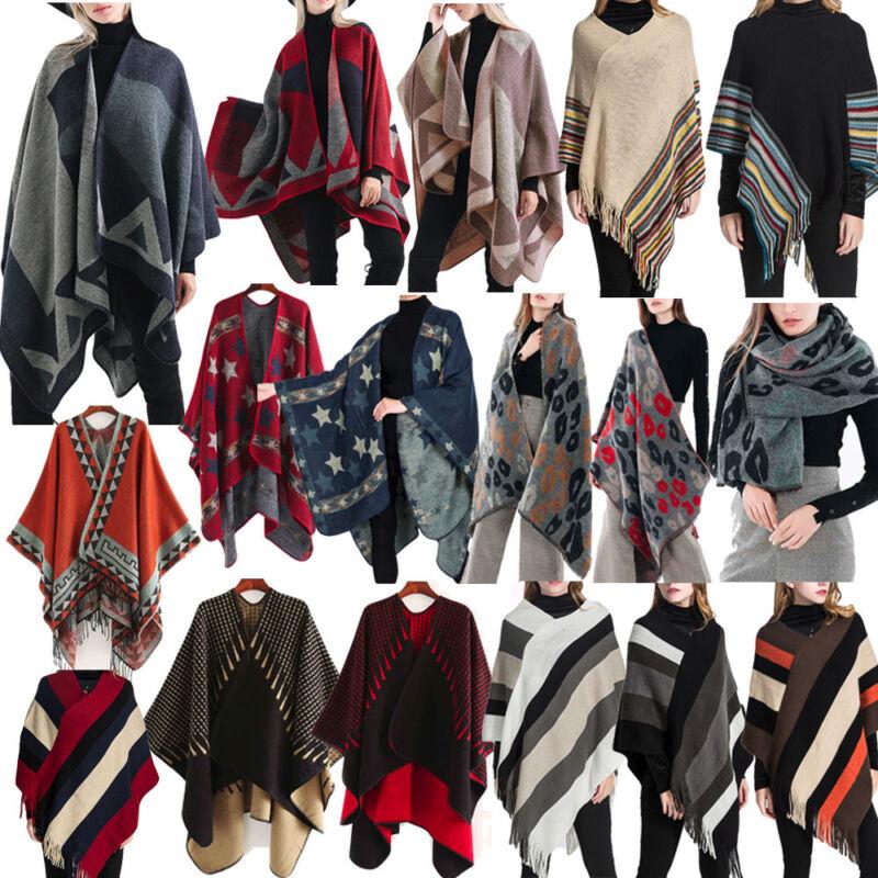 Women Blanket Oversized Tartan Scarf Wrap Shawl Plaid Cozy Checked Pashmina Coat
