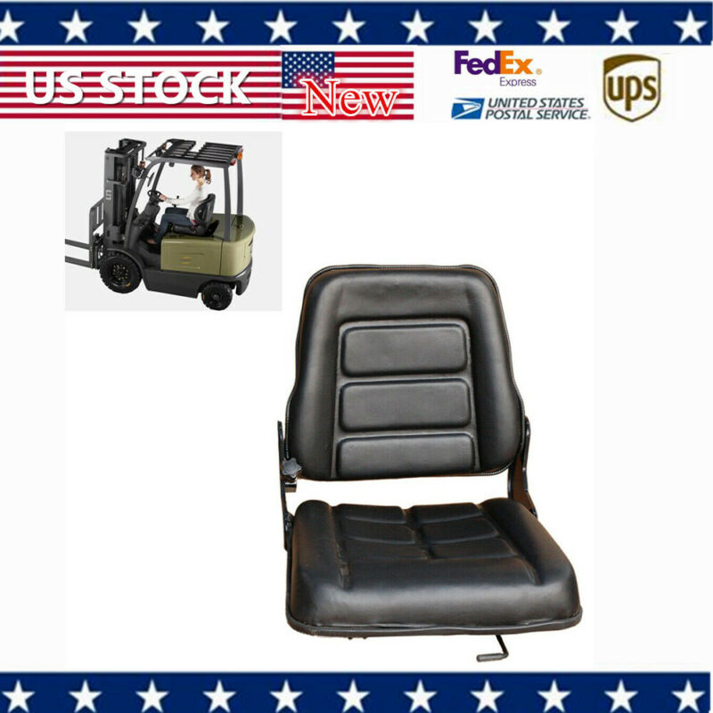 Nice Black Multi-Adjust Forklift Seat /Chair For Bobcat Tractor Excavator Truck