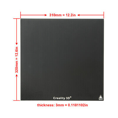 Bed Plate (Creality 320X310X3mm Borosilicate Glass Print Bed Plate For CR-10S-Pro)