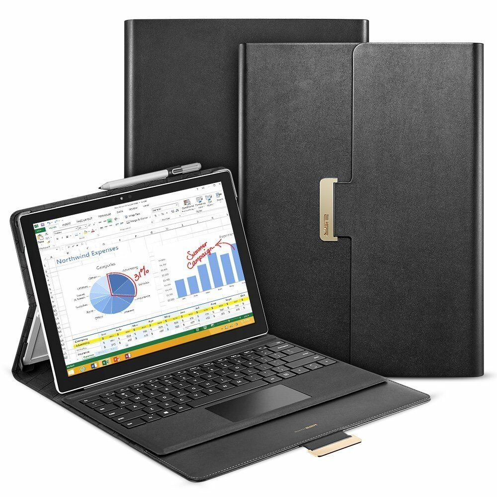 Microsoft Surface Pro 4 Case Folio Stand Cover Compatible...
