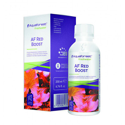 AQUAFOREST AF RED BOOST.ABONO líquido .Plantas de acuario ROJIZAS.200 ML.