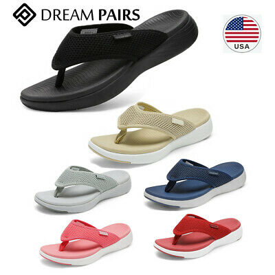 DREAM PAIRS Women's Arch Support Soft Cushion Flip Flops Tho