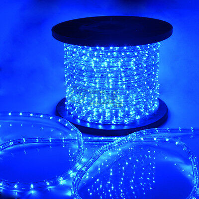 Blue 2 Wire Led Rope Light 110v Home Party Christmas Decorative In/outdoor