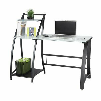 Safco Xpressions Computer Workstation With Tempered Glass Laptop Desk