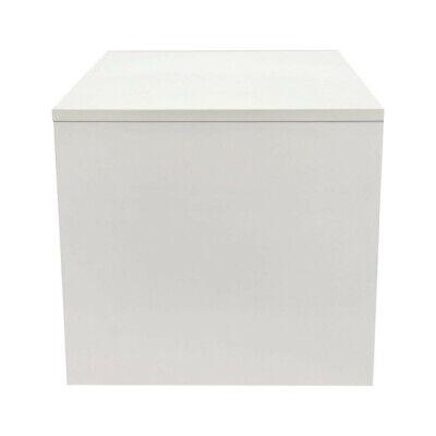 18 X 18 White Knockdown Bases Pedestal Base Box Cube Display Fixture Retail