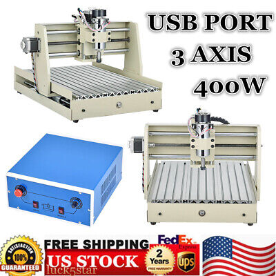 Usb 3 Axis Cnc 3040 Router Engraver Wood Carving Engraving Machine Cutter