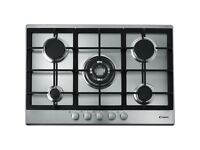 NEW Candy CPG75SQGX Five Burner Gas Hob Stainless Steel RRP £250