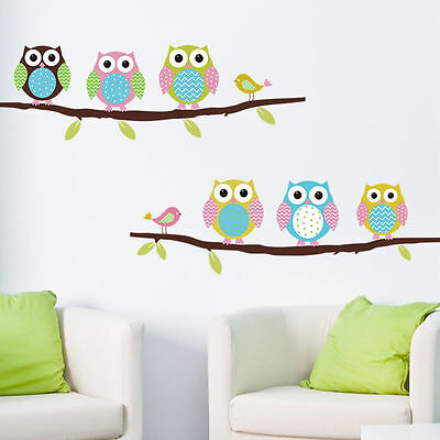 Fill blank wall space with owl themed wall decals