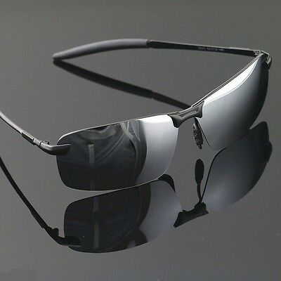 Sonnenbrille polarisiert, Aimi Silber HD, UV 400, gute Qualität Hülle, #899