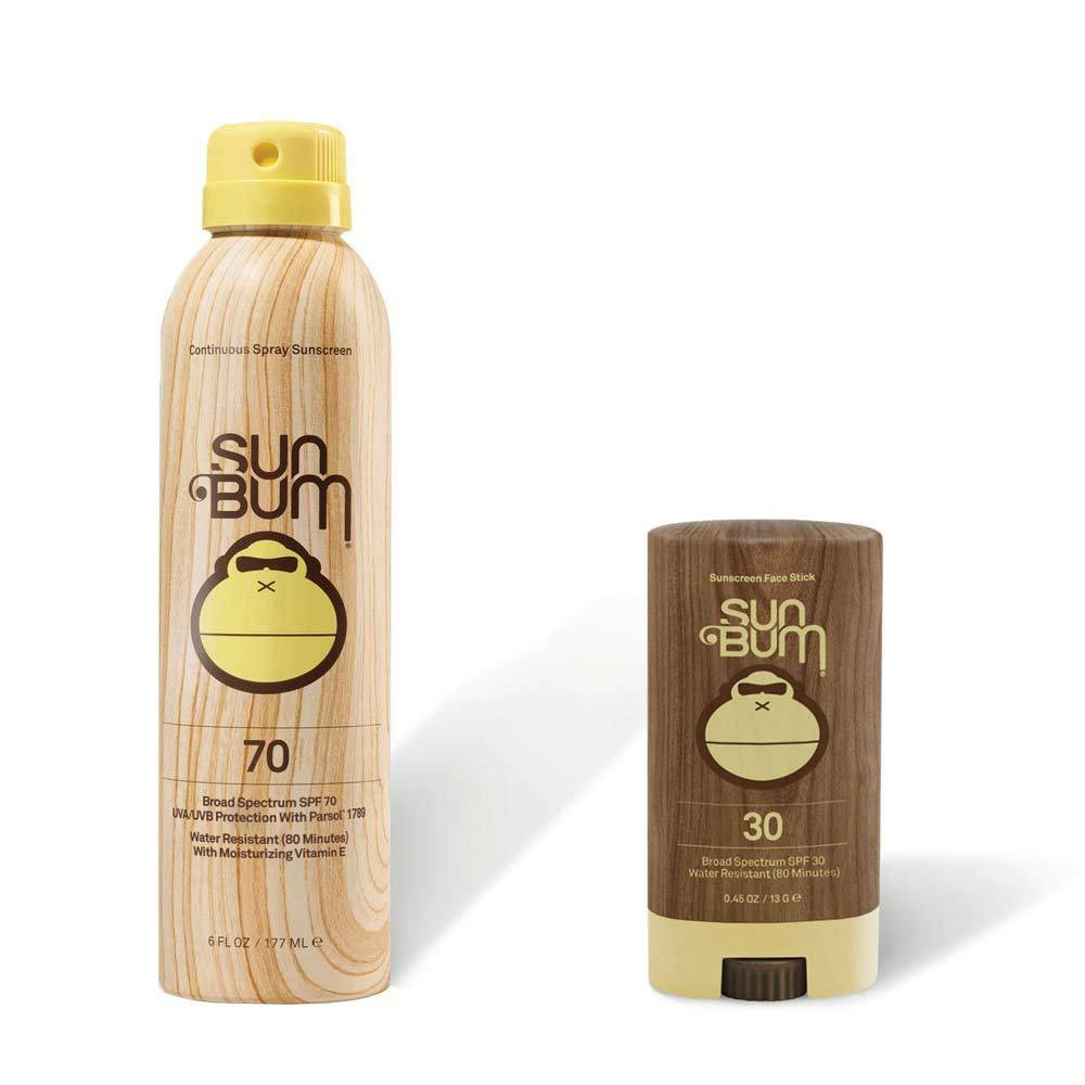 Sun Bum SPF 70 Spray Sunscreen + Face Stick SPF 30 - 42-70-F