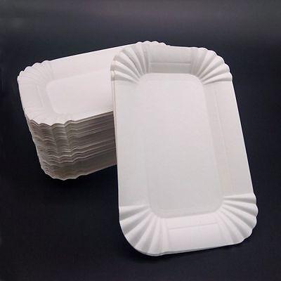 Buffet Disposable Dish Birthday Rectangular  Shaped Wedding Party Paper Plates (Wedding Buffet)