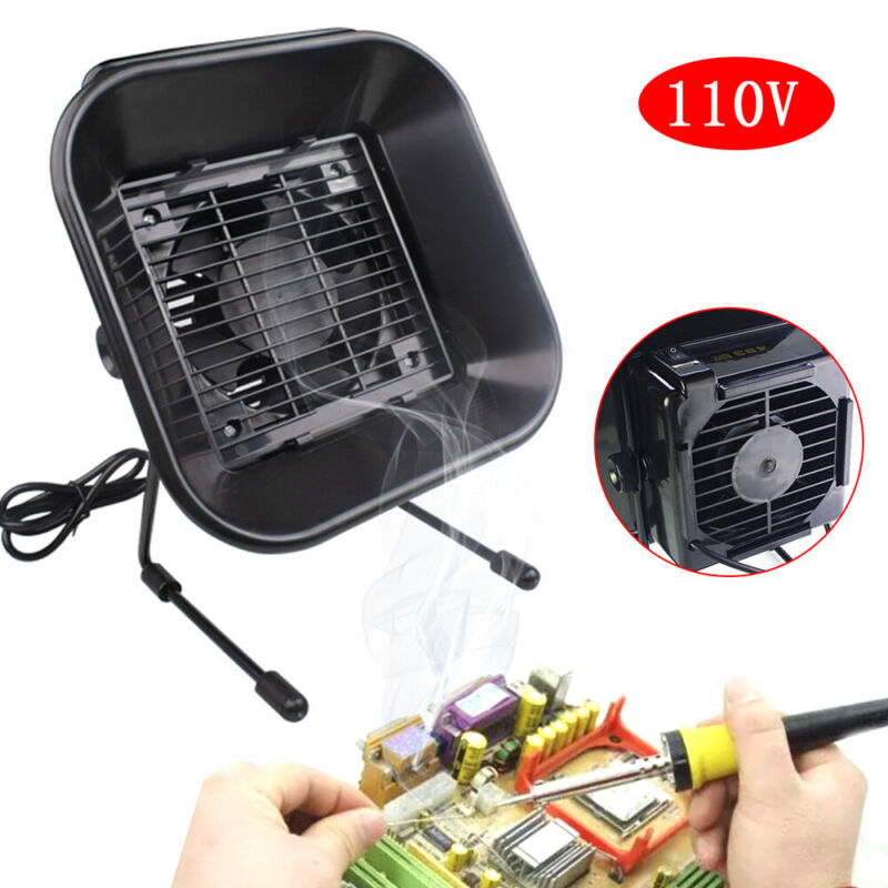 Soldering Weld Fume Extractor Smoke Absorber Rosin Air Fan w/Activate carbon