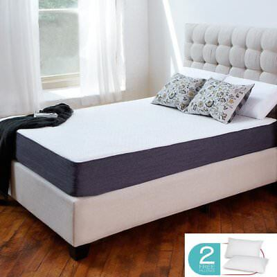 10  12  Gel Infused   Comfort Firm Memory Foam Mattress   King Queen Full Size M