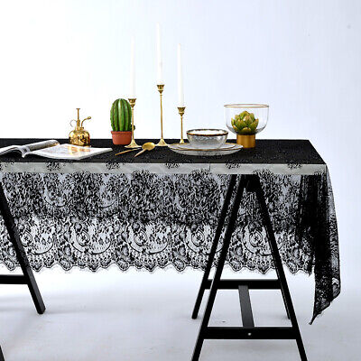 Rectangle Square Table Cover Lace Cloth Tablecloth Home Party Wedding Decor US (Lace Table Cloth)