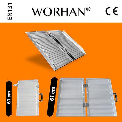WORHAN® 61cm Rampa Plegable Silla de Ruedas Discapacitado Movilidad Aluminio R2