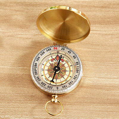 Retro Outdoor Pocket Watch Style Hiking Camping Luminous Compass Survival Tool