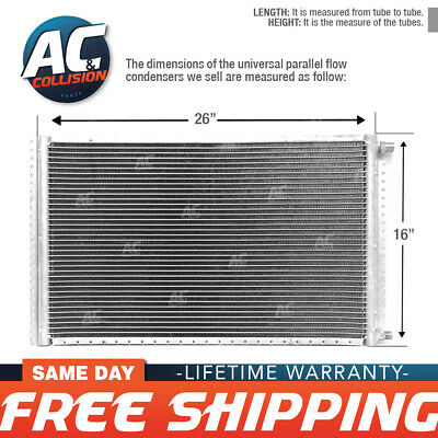 CNFP1626 AC A/C  Universal Condenser Parallel Flow 16 x 26 O-ring #6 And #8