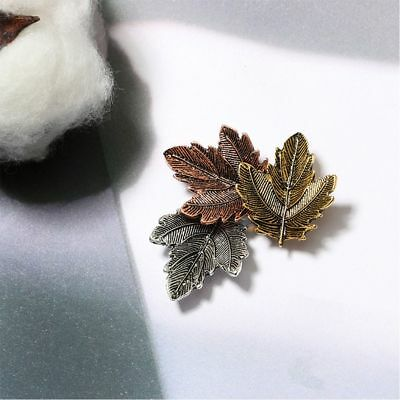 Maple Leaf Shape Metal Material Fashion Jewelry Garment Accessories Brooch Pin