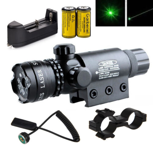 Green laser sight outside adjust For rifle gun scope remote switch 2 mount USA