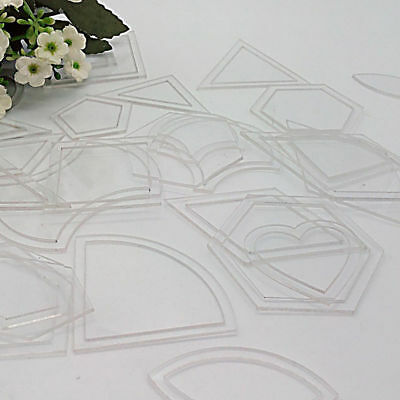 54pc Ruler DIY Tool Acrylic Quilt Quilting Template for Patchwork Craft Useful