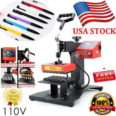 6pcs Digital Pen Heat Press Machine Fr Ball-point Transfer Printing Presser 110v