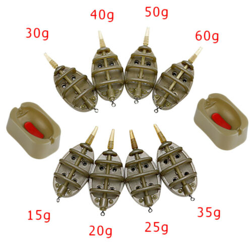 Best Quality 4 Inline Method Feeders + Rubber Mould 15g-60g