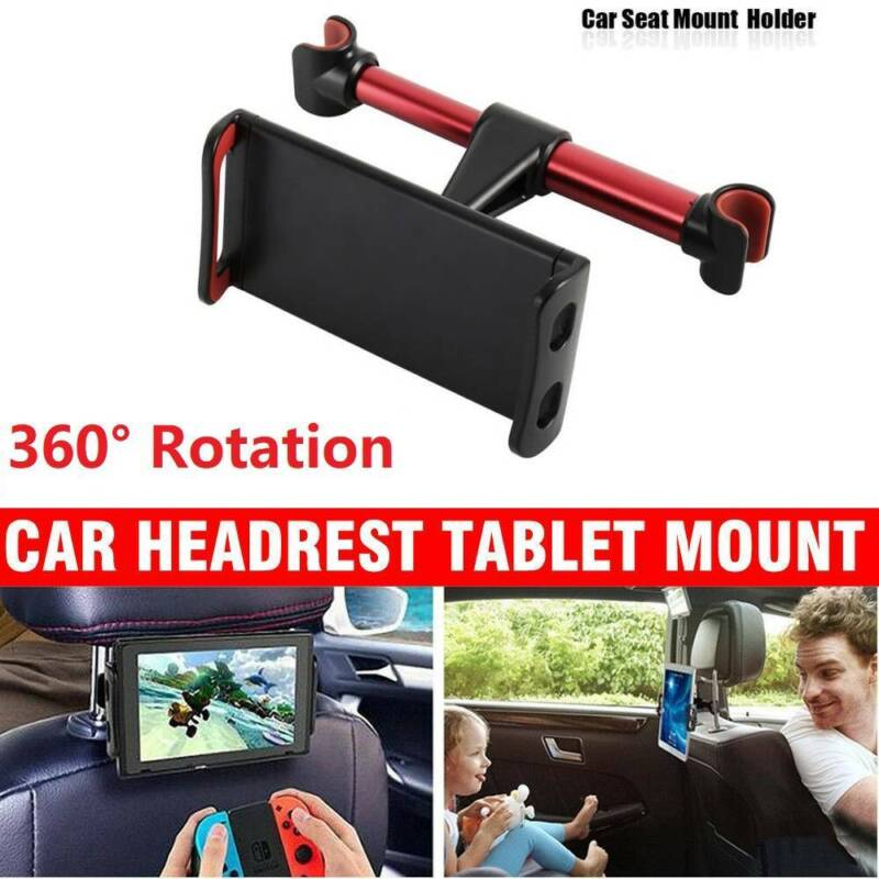 "360°Car Seat Back Headrest Mount Holder 4-11"" Tablet iPad M"