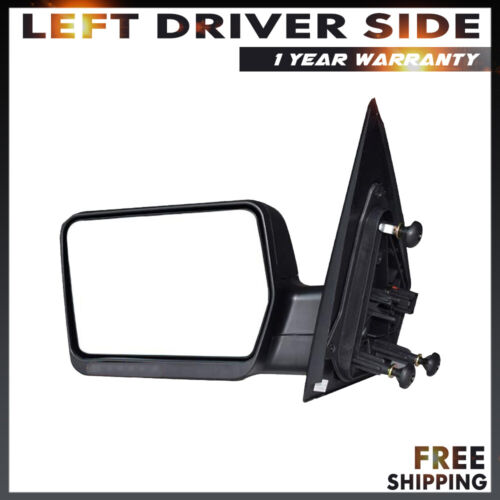 Driver Side Tow Mirrors Power For 2004-2007 Ford F-150 Left Manual Folding
