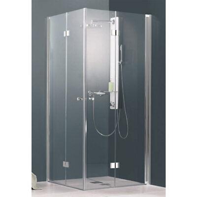 Duschkabine Drehfalttür Eckeinstieg Eck 90x90 Duschabtrennung Duschwand Dusche