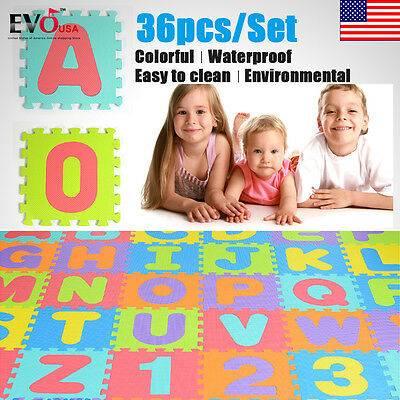 Puzzle Learning Alphabet Kid 36 PCS  ABC Floor Play Kid Mats Tile Letters Foam