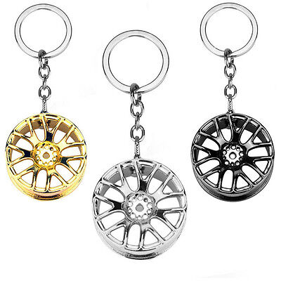 2017New Fashion Wheel Hub Rim Model Mans Keychain Car Key Chain Cool Gift Hot