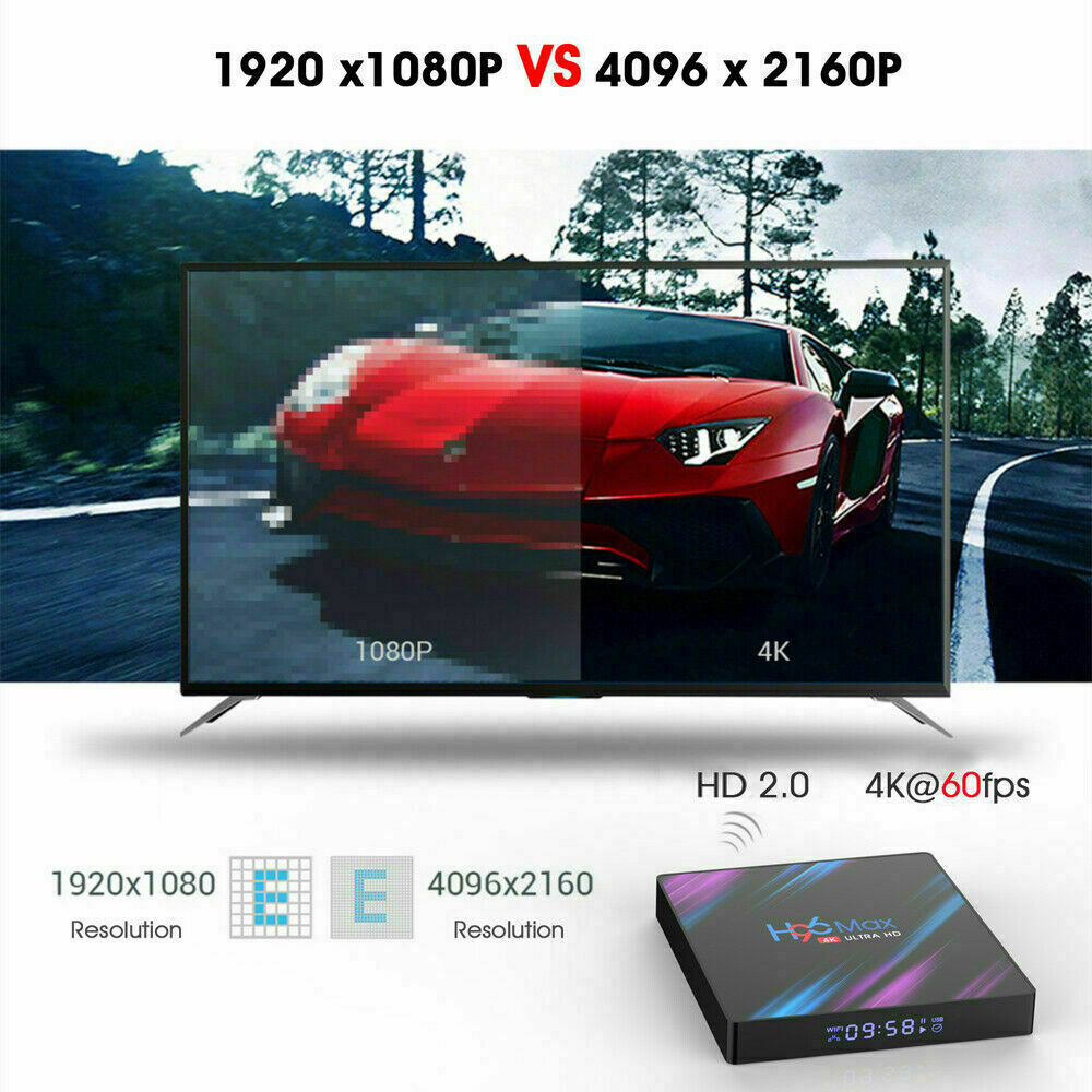 H96 Max Android 9.0 Quad Core 4K HD TV BOX 2GB+16GB Media Player WiFi / x96 mini 5