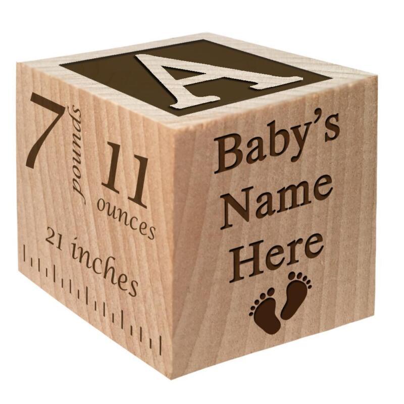 Birth Announcement Block