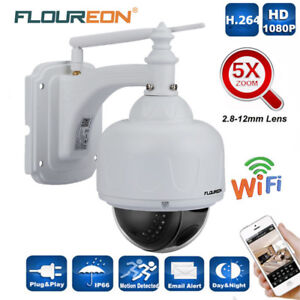 Wireless 5X ZOOM Outdoor CCTV PTZ HD 1080P WIFI IP Camera Dome Security IR Cam