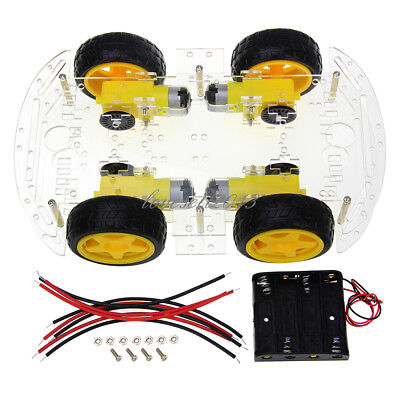 4wd Robot Smart Car Chassis Kits Car With Speed Encoder For Arduino New