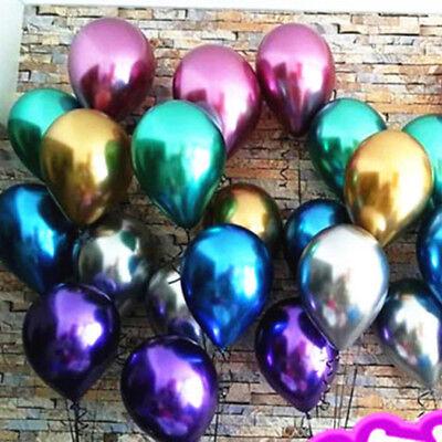 14 inch Metallic Latex Balloons Wedding Party Festival Baby Shower Decor 10Pcs](14 Balloons)