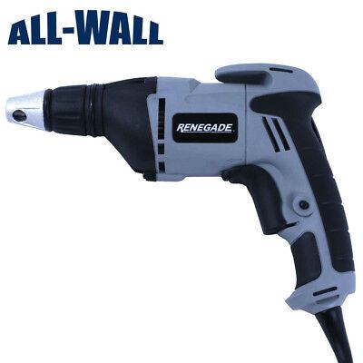 Renegade Drywall Screw Gun Driver - Lightweight Wadjustable Depth Nose Cone
