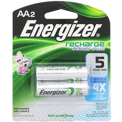 Energizer Rechargeable Power Plus AA 2300 mAh 2 Batteries
