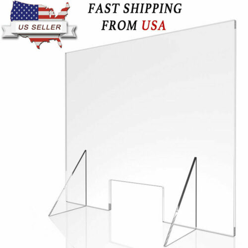 SNEEZE GUARD PROTECTION Barrier SHIELD CHECKOUT COUNTER Desk free fast shipping
