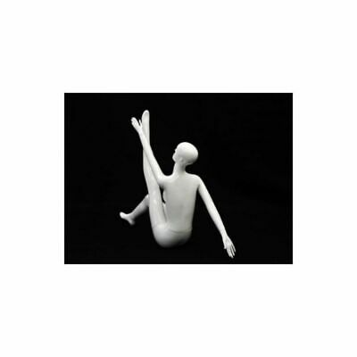 Womens Glossy White Seated Full Body Ladies Sitting Abstract Mannequin