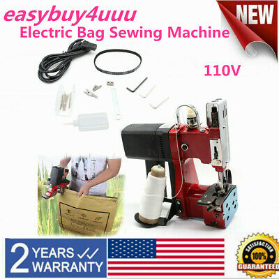 Industrial Electric Bag Stitching Closer Seal Sewing Machine Portableus Plug