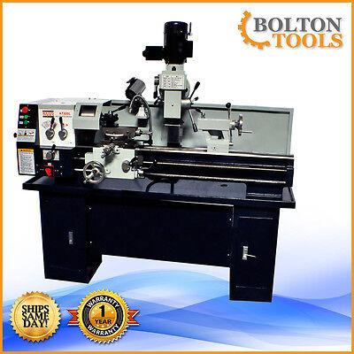 Bolton Tools 12 X 36 Gear Head Metal Lathe Mill Drill Milling Machine At320l